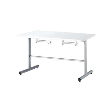 4人用食堂テーブル T字脚 幅1200mm ホワイト