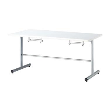 4人用食堂テーブル T字脚 幅1500mm ホワイト