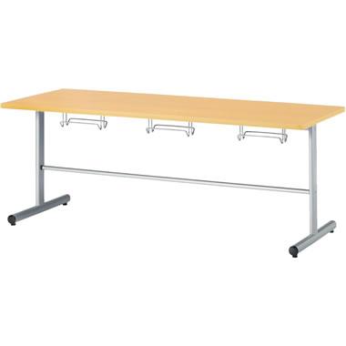 6人用食堂テーブル T字脚 幅1800mm メープル