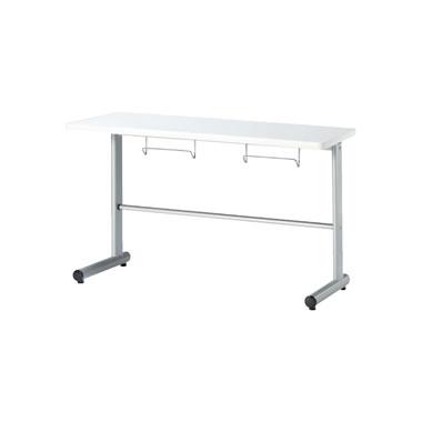2人用食堂テーブル T字脚 幅1200mm カウンタータイプ ホワイト