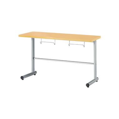 2人用食堂テーブル T字脚 幅1200mm カウンタータイプ メープル