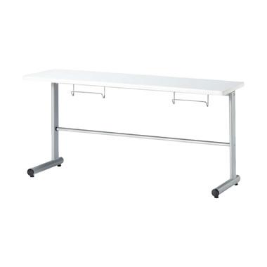 2人用食堂テーブル T字脚 幅1500mm カウンタータイプ ホワイト