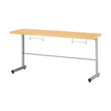 2人用食堂テーブル T字脚 幅1500mm カウンタータイプ メープル