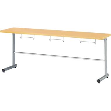3人用食堂テーブル T字脚 幅1800mm カウンタータイプ メープル