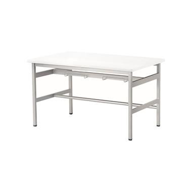 4人用食堂テーブル 4本脚 幅1200mm ホワイト