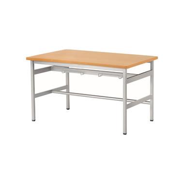 4人用食堂テーブル 4本脚 幅1200mm メープル