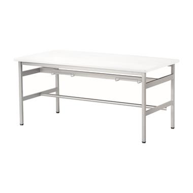 4人用食堂テーブル 4本脚 幅1500mm ホワイト