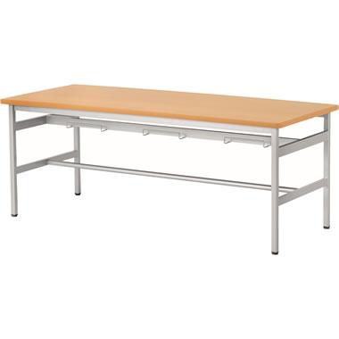 6人用食堂テーブル 4本脚 幅1800mm メープル