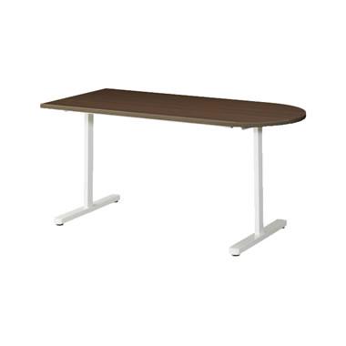 KAT型会議用テーブル 片Rタイプ 1500×750mm ウォールナット
