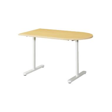 KAT型会議用テーブル 片Rタイプ 1200×750mm ペールアルダー