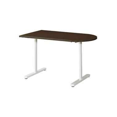 KAT型会議用テーブル 片Rタイプ 1200×750mm ウォールナット