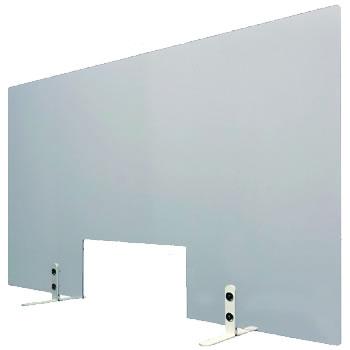 飛沫防止透明パネル 窓付き 幅900mm〈コロナ対策商品〉