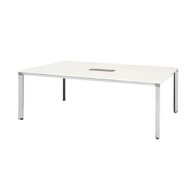 ATS-2110WW 会議用テーブル 幅2100 配線ボックス付 天板:ホワイト