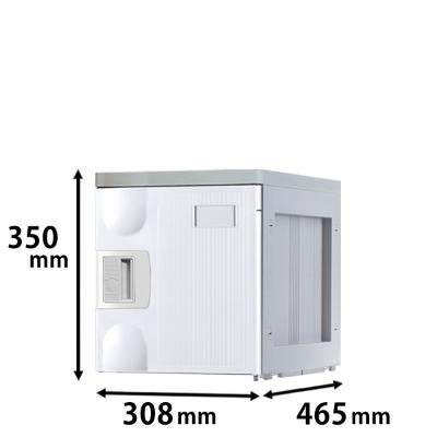 プラスチックロッカー Sタイプ 連結専用 ホワイト