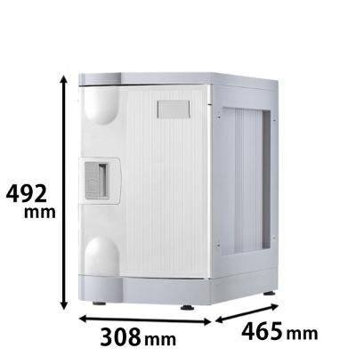 プラスチックロッカー Mタイプ ベース付  ホワイト