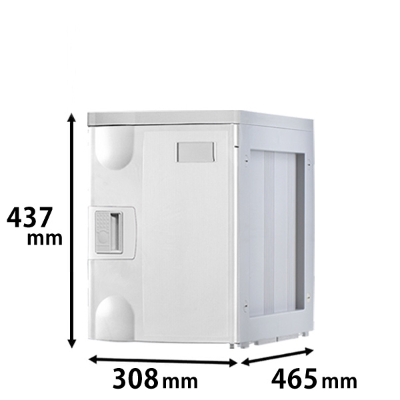プラスチックロッカー Mタイプ 連結専用 ホワイト