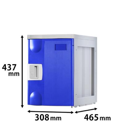 プラスチックロッカー Mタイプ 連結専用 ブルー