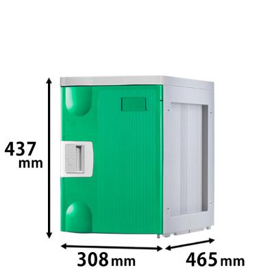 プラスチックロッカー Mタイプ 連結専用 グリーン