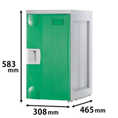 プラスチックロッカー Lタイプ 連結専用 グリーン