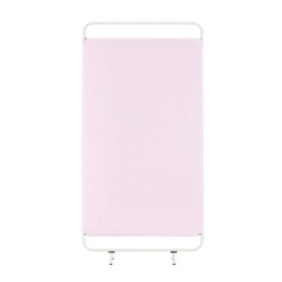 ソフトスクリーン 制菌・防炎タイプ 1連 アジャスター脚 ピンク