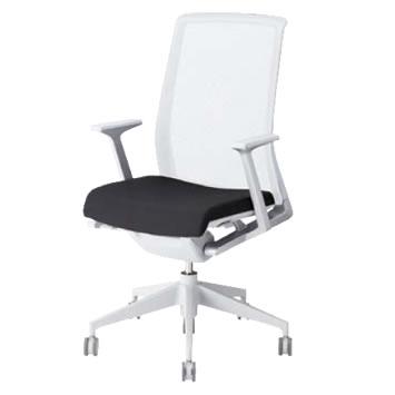 ヘイワース VERY 固定肘 樹脂脚 座:布張り 背:ホワイト