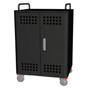 Tablet*Cart FOUR-r ノートパソコン タブレット40台収納キャビネット ブラック