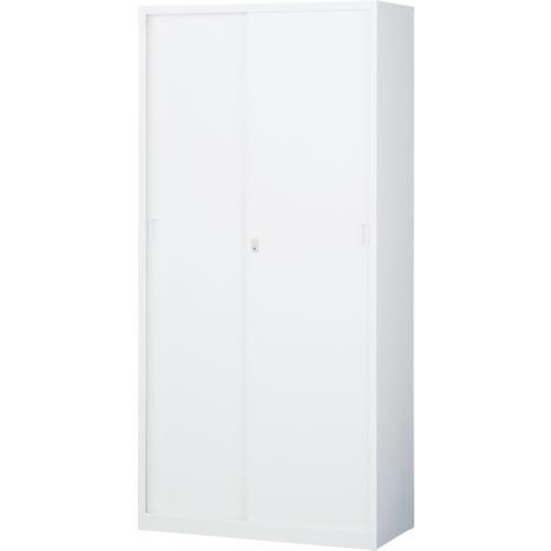スチール引戸書庫 下置用 ホワイト 幅880×奥行400×高さ1850mm