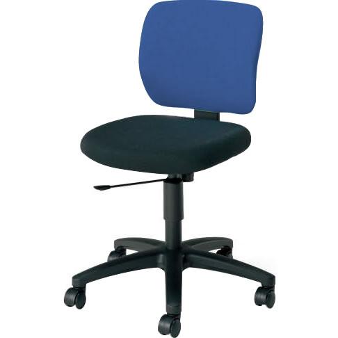 オフィスチェア 「イーザ」 肘無し 背・座別色インディゴブルー