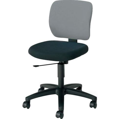 オフィスチェア 「イーザ」 肘無し 背・座別色ソフトグレー