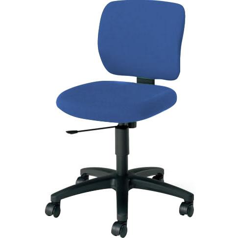 オフィスチェア 「イーザ」 肘無し 背・座同色インディゴブルー