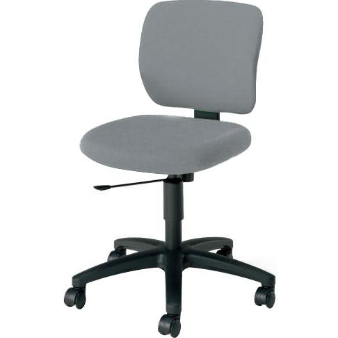オフィスチェア 「イーザ」 肘無し 背・座同色ソフトグレー