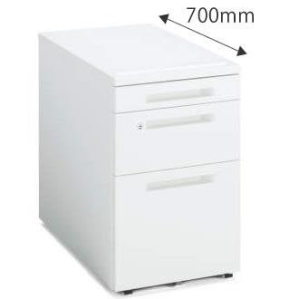 インサイドワゴン 3段(V3) 幅395×奥行600mm ホワイト