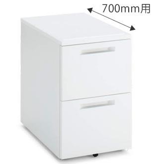 インサイドワゴン 2段(A2) 幅395×奥行600mm ホワイト