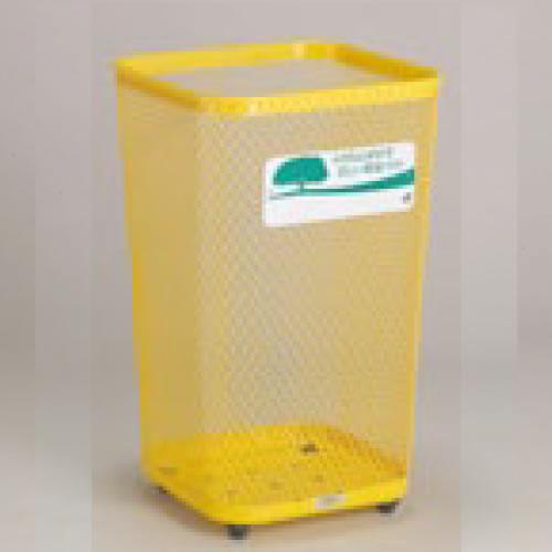 屋外用ダストボックス スチール製 グランドコーナー 角形 103L 黄