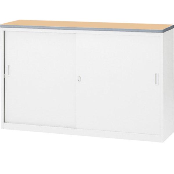 ハイカウンター NS 引戸タイプ 幅1500 本体色:ホワイト 天板色:ペールアルダー