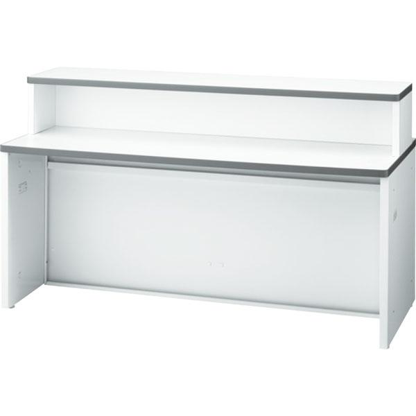 ローカウンター NS インフォメーションタイプ 幅1600 本体色:ホワイト 天板色:ホワイト