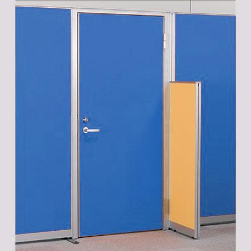 パーテーションLPX 右開き窓なしドアパネル 高さ1900 ブルー