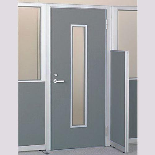 パーテーションLPX 右開き窓付ドアパネル 高さ1900 グレー