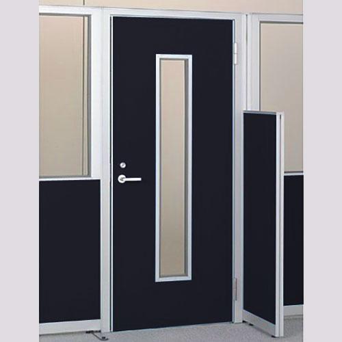 パーテーションLPX 右開き窓付ドアパネル 高さ1900 ブラック