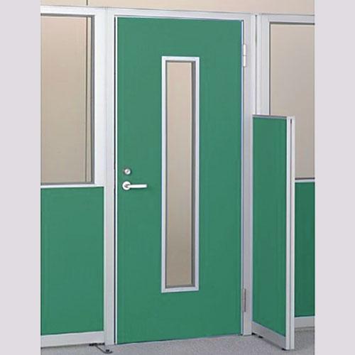 パーテーションLPX 右開き窓付ドアパネル 高さ1900 グリーン