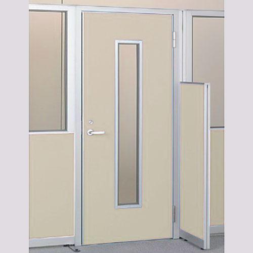 パーテーションLPX 右開き窓付ドアパネル 高さ1900 ベージュ