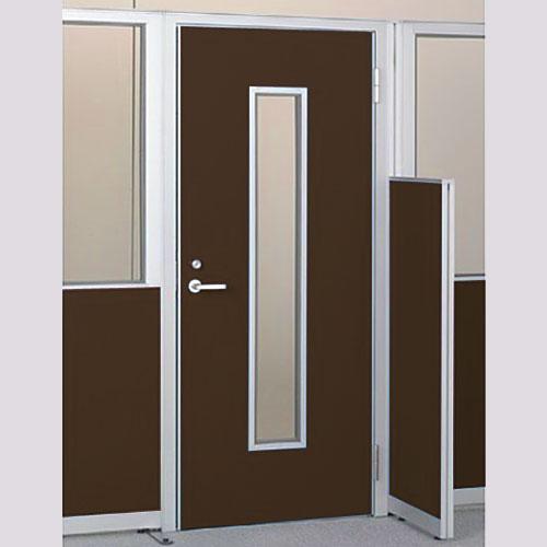 パーテーションLPX 右開き窓付ドアパネル 高さ1900 ブラウン