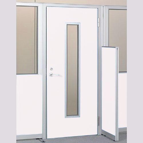 パーテーションLPX 右開き窓付ドアスチールパネル 高さ1900 ホワイト