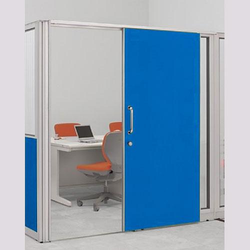 パーテーションLPX 片引き窓なしドアパネル 高さ1900 ブルー