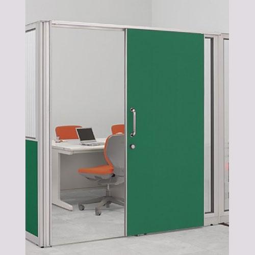 パーテーションLPX 片引き窓なしドアパネル 高さ1900 グリーン