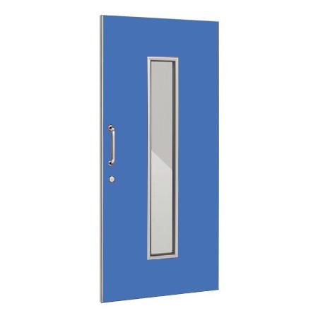 パーテーションLPX 片引き窓付ドアパネル 高さ1900 ブルー