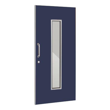 パーテーションLPX 片引き窓付ドアパネル 高さ1900 ネイビー