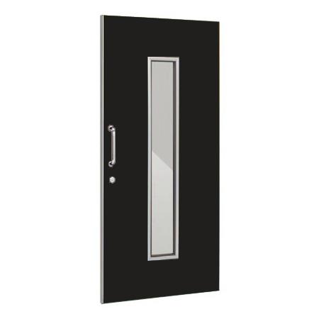 パーテーションLPX 片引き窓付ドアパネル 高さ1900 ブラック