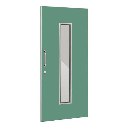 パーテーションLPX 片引き窓付ドアパネル 高さ1900 グリーン