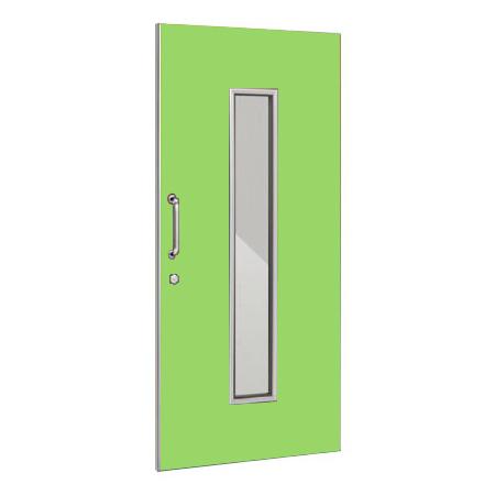 パーテーションLPX 片引き窓付ドアパネル 高さ1900 ライム